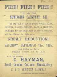 Advert For C. Hayman, Ladies Clothing Store